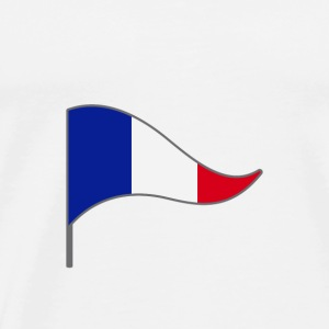 France Paris Flag Banner Flags Ensigns - Men's Premium T-Shirt