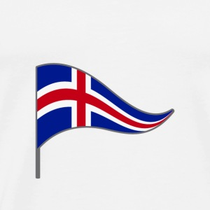 Iceland Reykjavik Flag Banner Flags Ensigns - Men's Premium T-Shirt