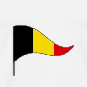 Belgium Brusels Europe Flag Banner Flags Ensigns - Men's Premium T-Shirt