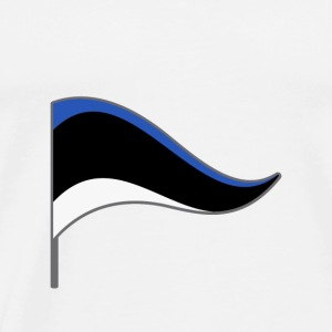 Estonia Europe Flag Banner Flags Ensigns - Men's Premium T-Shirt