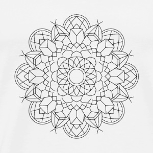 Mandala Oldschool Ink Hipster Illustration 52 - Men's Premium T-Shirt