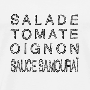KEBAB SAUCE SAMOURAI in black - Men's Premium T-Shirt