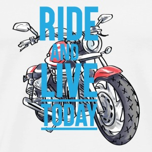 GIFT - RIDE AND LIVE - Men's Premium T-Shirt