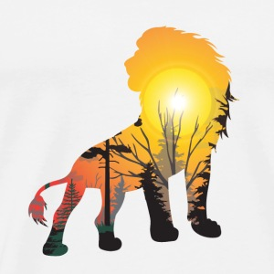 GIFT - LION SUNSET - Men's Premium T-Shirt