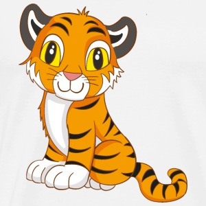 Cute Tiger - Men's Premium T-Shirt