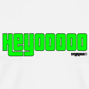 Heyooooo neon green - Men's Premium T-Shirt