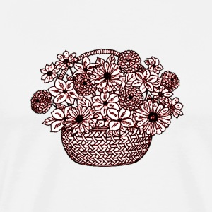 Basket of Flowers - Men's Premium T-Shirt