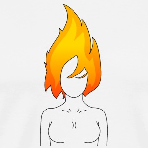 Burning girl light - Men's Premium T-Shirt