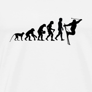 The evolution of skiing - Men's Premium T-Shirt