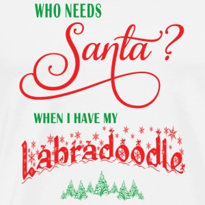 Labradoodle Who needs Santa with tree - Men's Premium T-Shirt