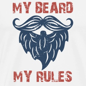 my beard my rules - Men's Premium T-Shirt