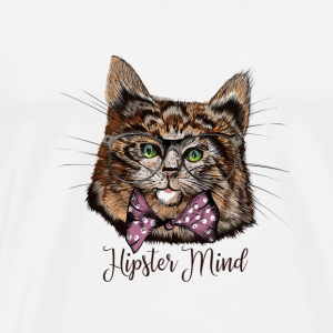 hipster mind cat - Men's Premium T-Shirt
