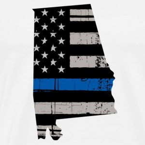 Alabama Thin Blue Line Police Cop Wife Gift - Men's Premium T-Shirt