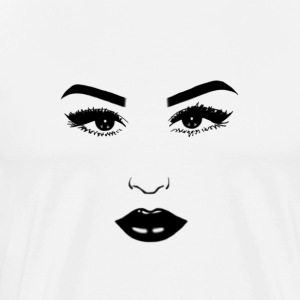 Black & White Face - Men's Premium T-Shirt