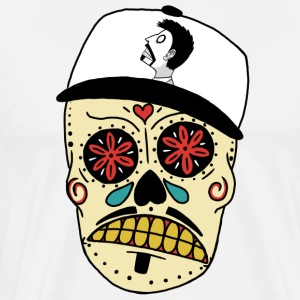 Skull With Snapback - Men's Premium T-Shirt