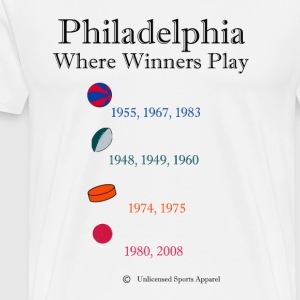 Where Winners Play-Philadelphia - Men's Premium T-Shirt