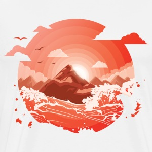 Red Sunset - Men's Premium T-Shirt