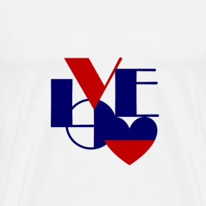 Love Blue and Red 4RED - Men's Premium T-Shirt
