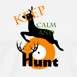 Keep Calm And Hunt - Men's Premium T-Shirt
