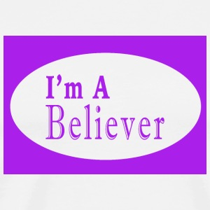 I m a Believer (Purple) - Men's Premium T-Shirt