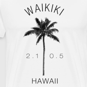 Hawaii Waikiki Coconut - Men's Premium T-Shirt