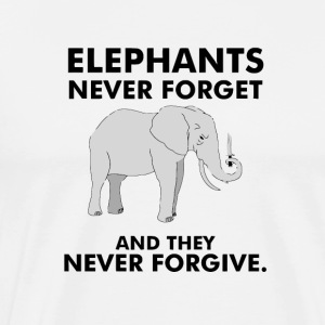 Elephants never forget - Men's Premium T-Shirt