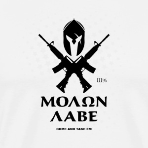 Molon Labe Rifles - Men's Premium T-Shirt