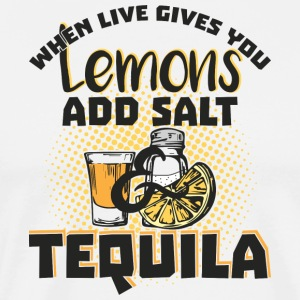 Tequila Lover Lemons Need Salt & Tequila Por Favor - Men's Premium T-Shirt