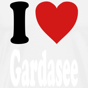 I love Gardasee (variable colors!) - Men's Premium T-Shirt