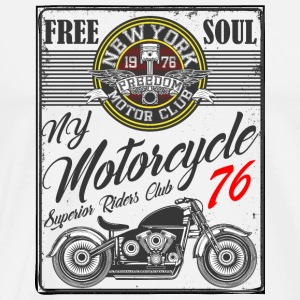 Motorcycle New York motor club vector image funny - Men's Premium T-Shirt