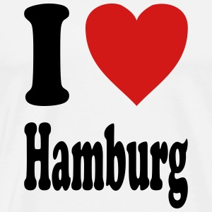 I love Hamburg (variable colors!) - Men's Premium T-Shirt