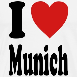 I love Munich (variable colors!) - Men's Premium T-Shirt