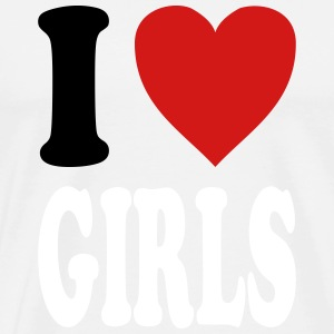I love GIRLS (variable colors!) - Men's Premium T-Shirt