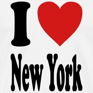 I love New York (variable colors!) - Men's Premium T-Shirt