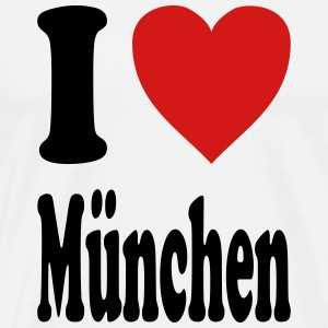 I love Muenchen (variable colors!) - Men's Premium T-Shirt