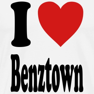 I love Benztown / Stuttgart (variable colors!) - Men's Premium T-Shirt
