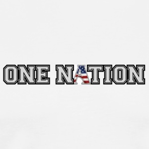 One Nation with flag - Men's Premium T-Shirt