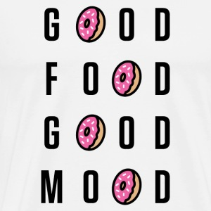 Good Food Good Mood | Donut Typography - Men's Premium T-Shirt