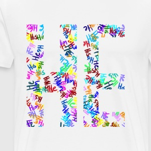 He/Him/His Pattern He - Men's Premium T-Shirt