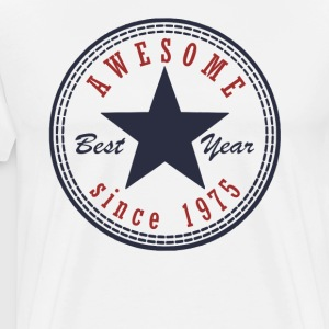 42nd Birthday Awesome since T Shirt Made in 1975 - Men's Premium T-Shirt