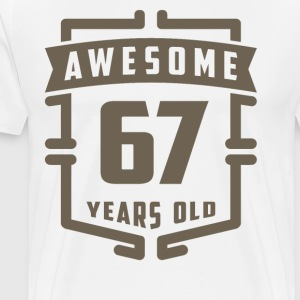 Awesome 67 Years Old - Men's Premium T-Shirt