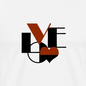 Love Rusty Black - Men's Premium T-Shirt