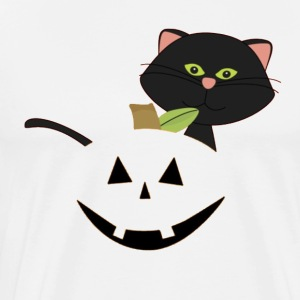 Halloween Jack-O'-Lantern T-Shirt with Boo - Men's Premium T-Shirt