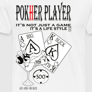 POKHER PLAYER MARTINI GIRL - Men's Premium T-Shirt