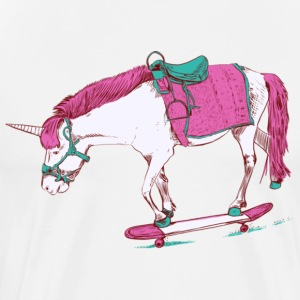 Unicorn on a Skateboard Gift Shirt Pre - Men's Premium T-Shirt