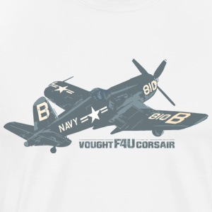 USAF Vought F4U Corsair WW2 Aircraft - Men's Premium T-Shirt