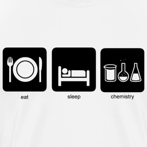 Eat, sleep, chemistry - Men's Premium T-Shirt