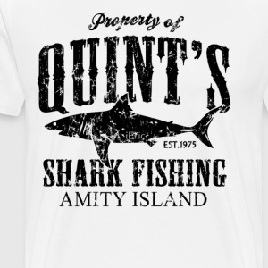 Quints Shark Fishing Amity Island - Men's Premium T-Shirt