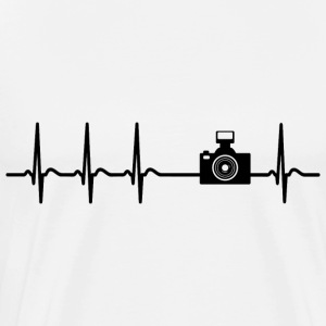Heartbeat Photograph Camera Picture cool fun gift - Men's Premium T-Shirt