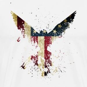 Merica Eagle American eagle with US flag - Men's Premium T-Shirt